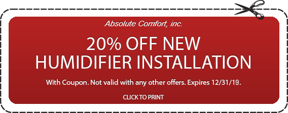 Colorado Springs humidifier installation coupon